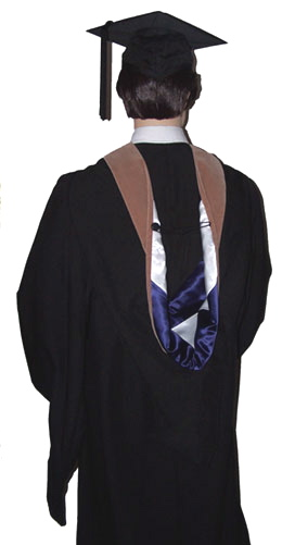 Academic regalia hoods. Doctoral & PhD hoods to wear with cap gown.