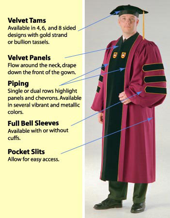 Academic regalia for individuals needing doctoral robes or ...