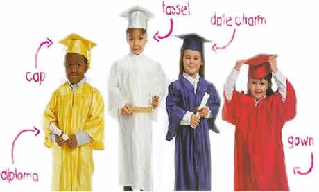Pre School Graduation Regalia Kindergarten Caps And Gowns